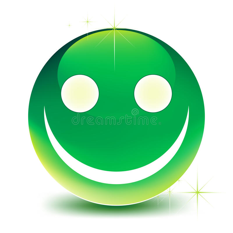 Groene glimlach stock illustratie