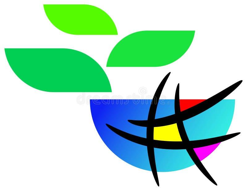 Groene glob stock illustratie