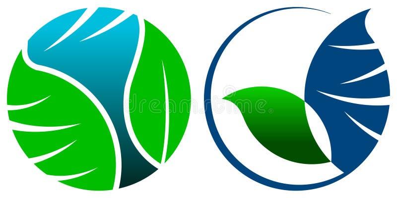 Groene glob royalty-vrije illustratie