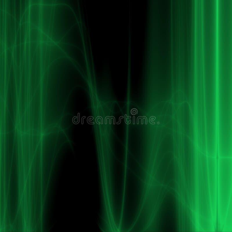 Groene gloed vector illustratie