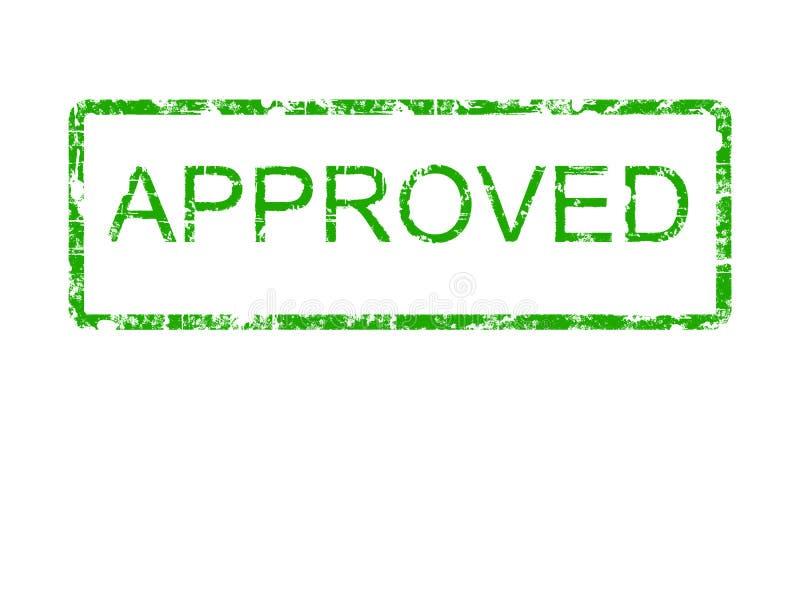 Groene Goedgekeurde rubberzegel vector illustratie