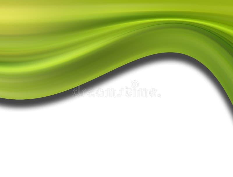 Groene golfachtergrond royalty-vrije illustratie