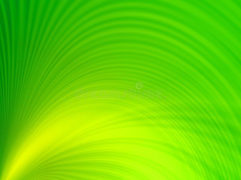 Groene golven stock illustratie