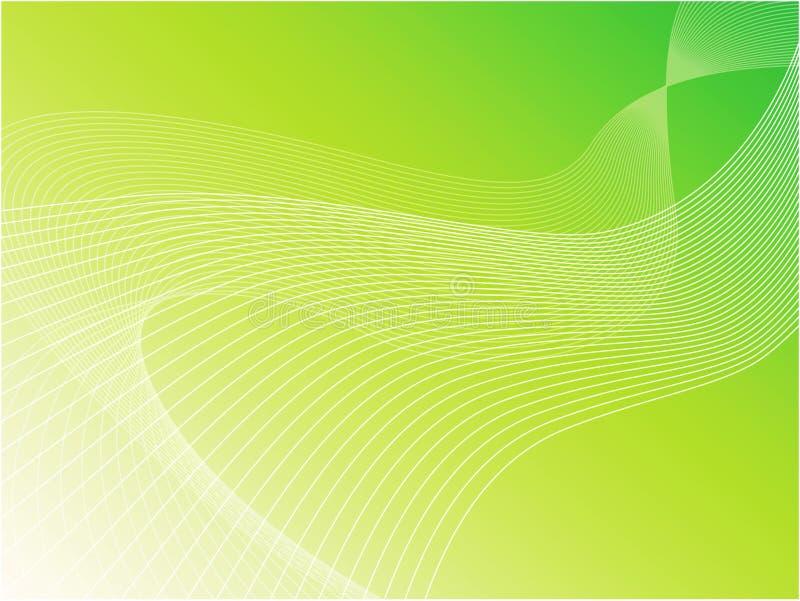 Groene golvende vectorachtergrond stock illustratie