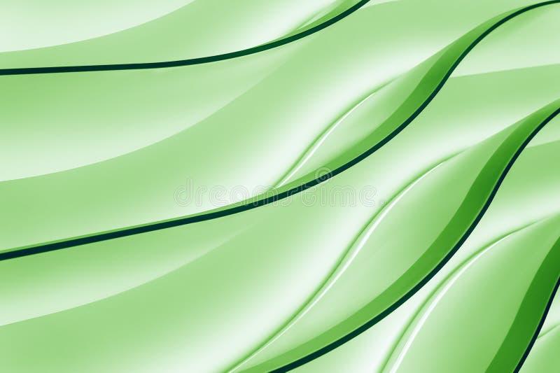 Groene gradiëntgolven stock illustratie