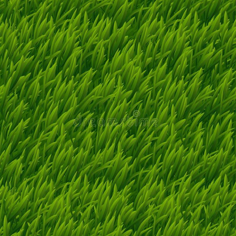 Groene gras vector naadloze textuur stock illustratie