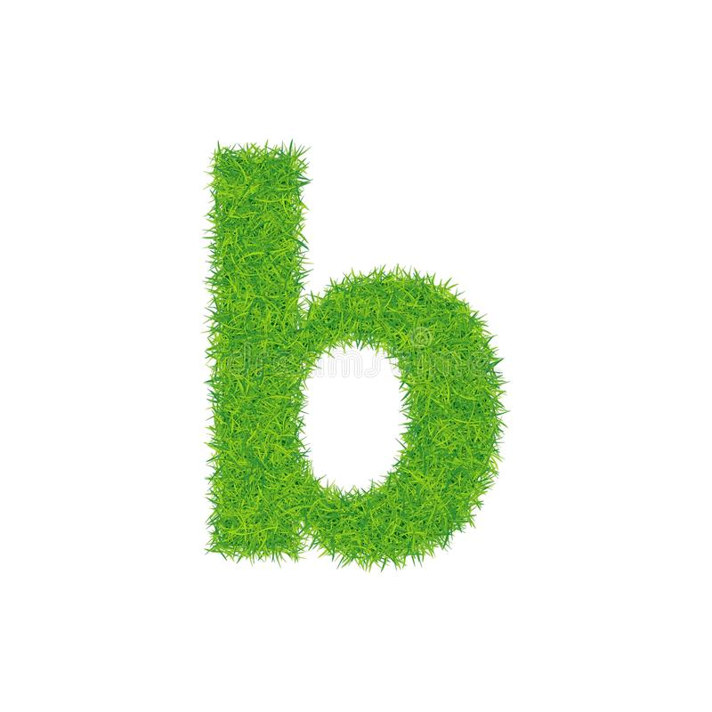 Groene grasbrief B op witte achtergrond royalty-vrije illustratie