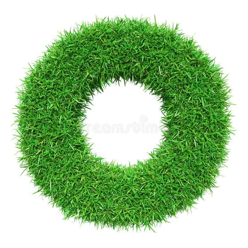 Groene Grasbrief O vector illustratie
