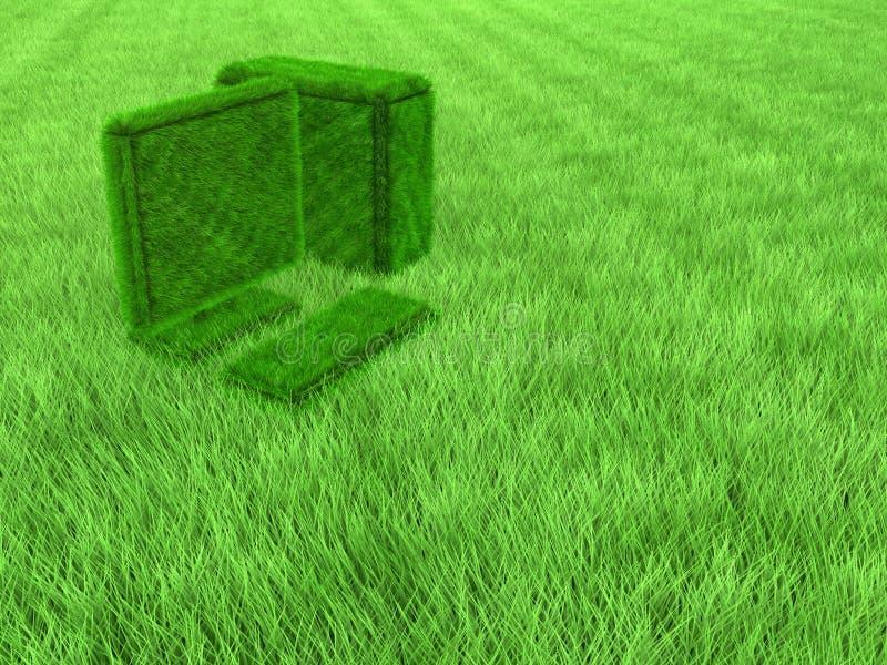 Groene grascomputer royalty-vrije stock foto's