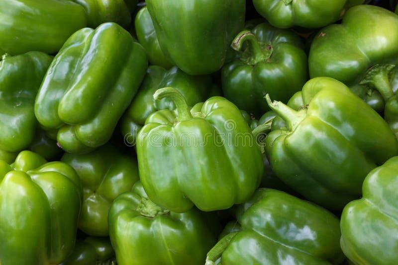 Groene Groene paprika's stock afbeelding