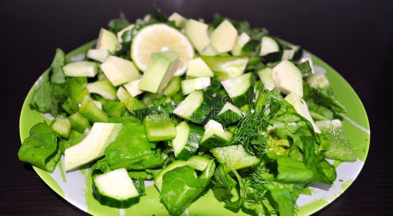 Groene Groenten Reeks diverse seizoengebonden groene groenten royalty-vrije stock afbeelding