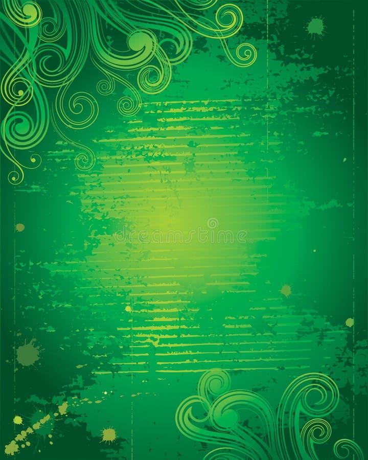 Groene Grunge stock illustratie