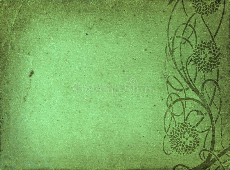Groene grungegrens stock foto's