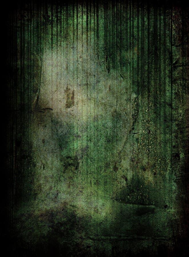 Groene grungescène stock illustratie