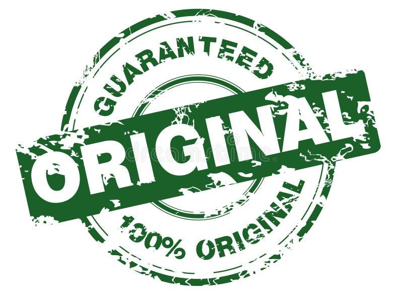 Groene grungezegel vector illustratie