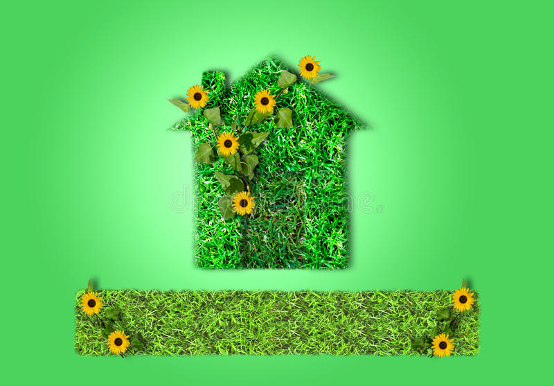 Groene haus stock afbeelding
