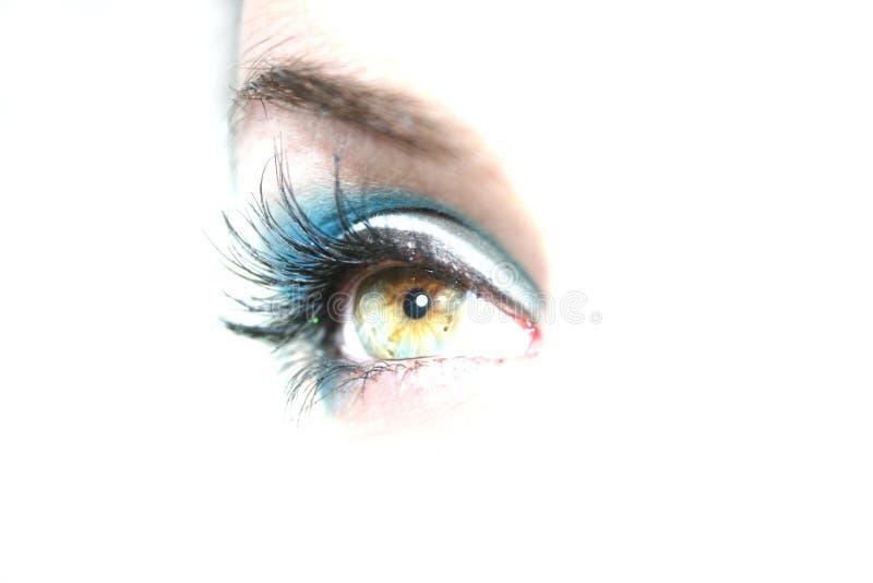 Groene Hazel Eye stock afbeelding