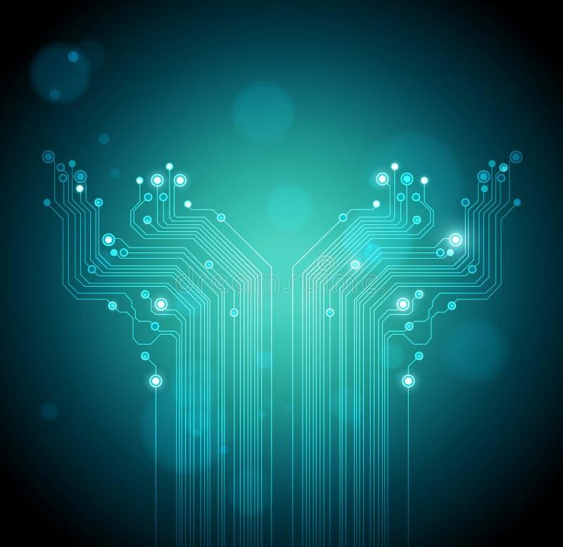 Groene het conceptenachtergrond van de boom moderne technologie royalty-vrije illustratie