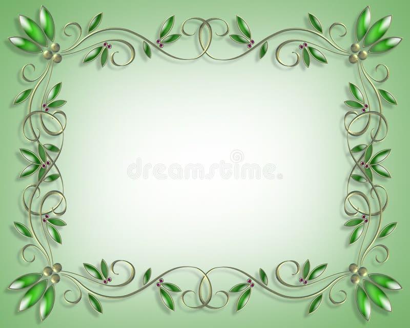 Groene het Element van het Ontwerp van de grens vector illustratie