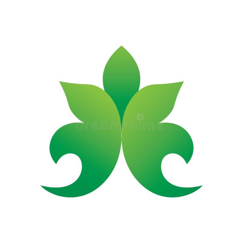 Groene het Embleemvector van de Bladgradiënt stock illustratie
