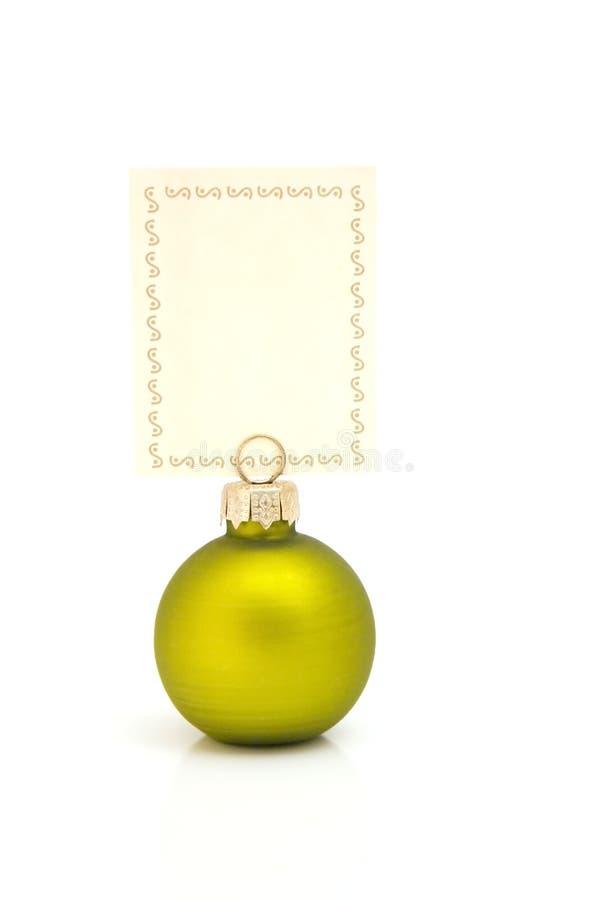 Groene het memorandum van Kerstmis royalty-vrije stock afbeelding