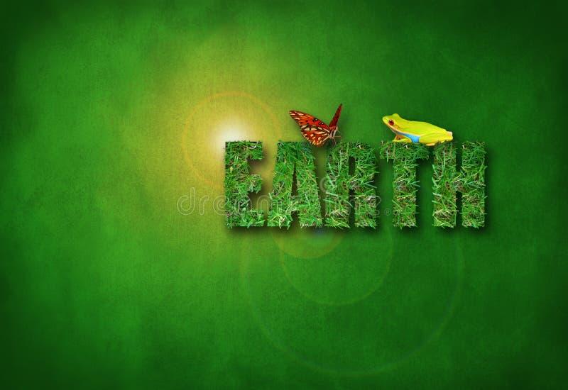 Groene het milieugezondheid van de Dag van de grasAARDE royalty-vrije stock foto