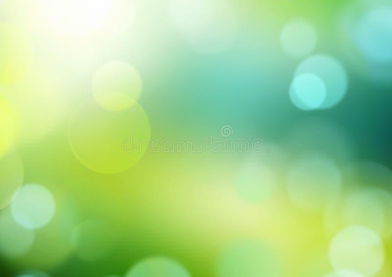 Groene het onduidelijke beeldachtergrond van de de lentezomer vector illustratie