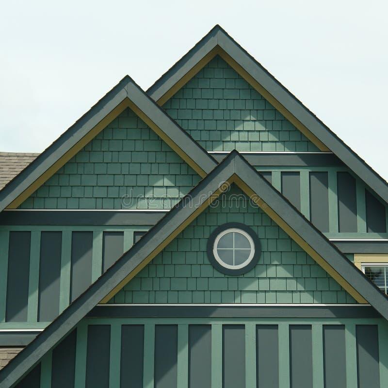 Groene het Opruimen van het Huis van het huis Details stock foto's
