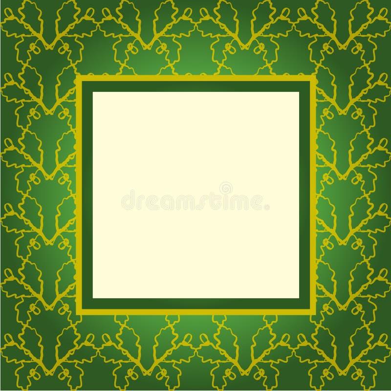 Groene het ornamentdekking van het ontwerp vector illustratie