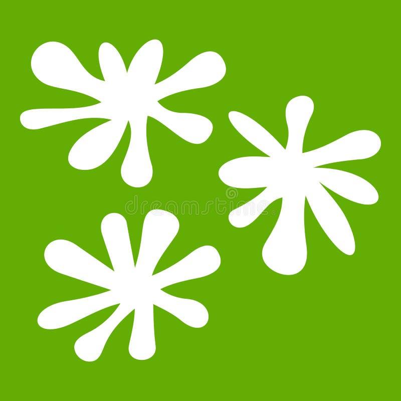 Groene het pictogram van de Paintballvlek royalty-vrije illustratie