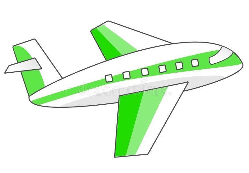 Groene het Vliegtuigillustratie van de Luchtreis stock afbeelding