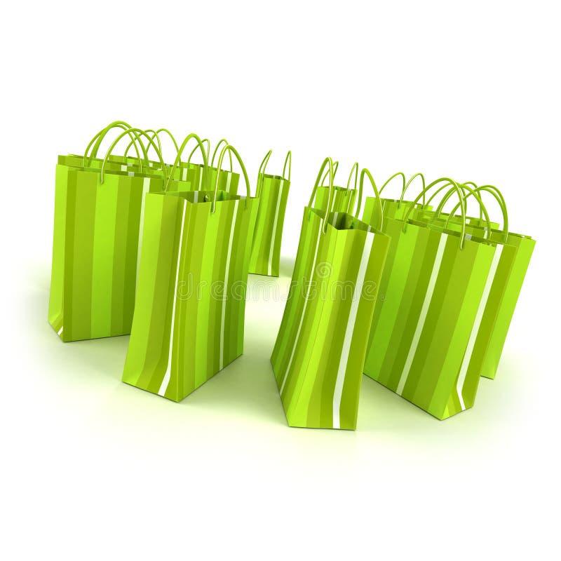 Groene het winkelen cirkel vector illustratie