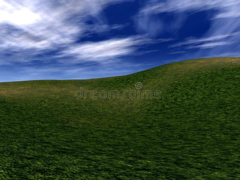 Groene Heuvels 5 vector illustratie