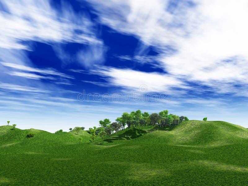 Groene heuvels vector illustratie