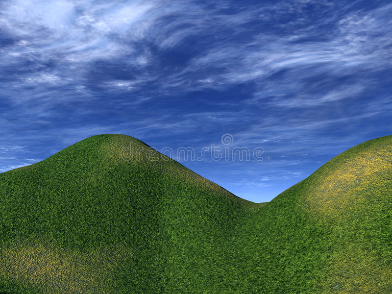 Groene Heuvels 7 stock illustratie