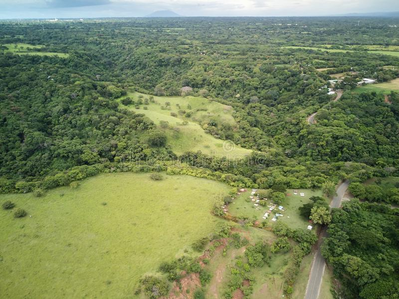 Groene heuvels in het landschap van Nicaragua royalty-vrije stock afbeelding