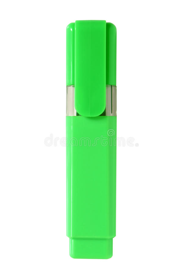 Groene highlighter stock foto's