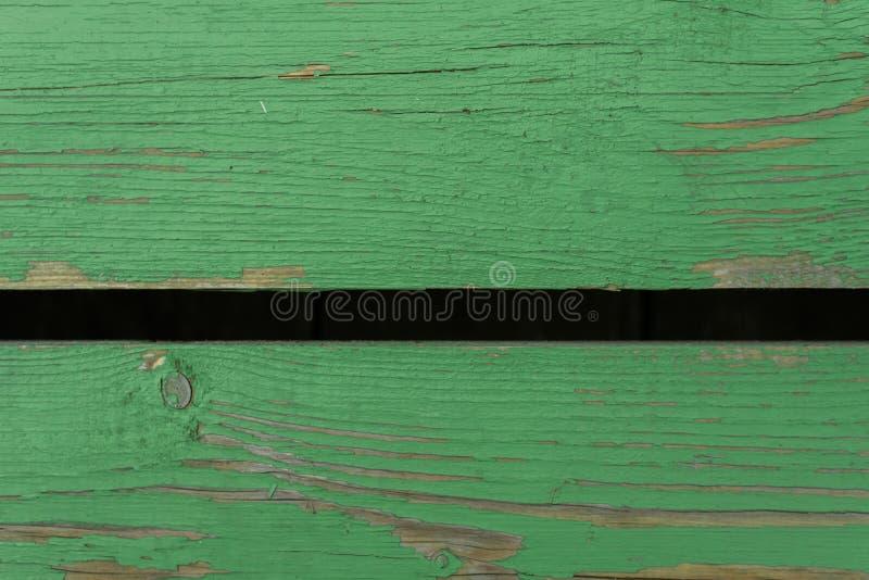 Groene houten achtergrond van twee raad behang voor bloggen stock fotografie