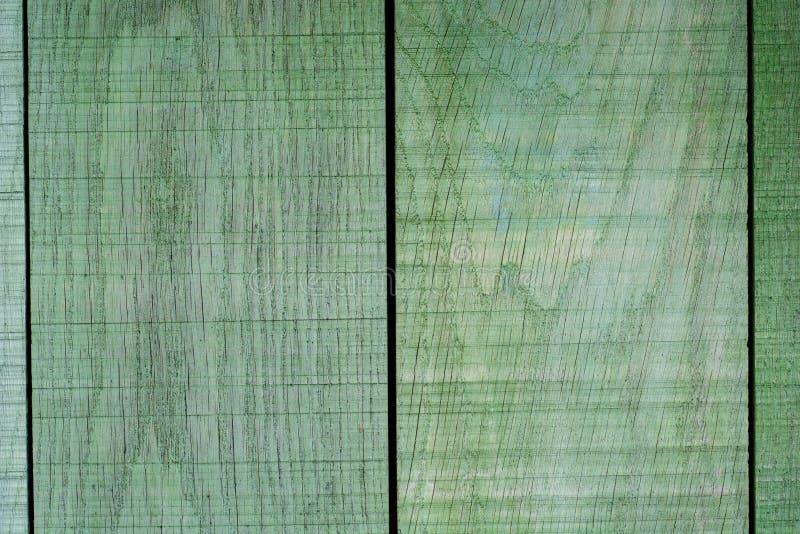 Groene houten plankenomheining royalty-vrije stock foto