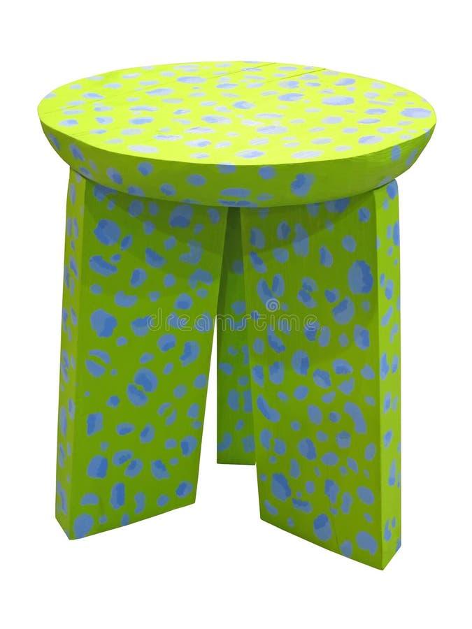Groene houten stoel die op witte achtergrond wordt geïsoleerd., royalty-vrije illustratie