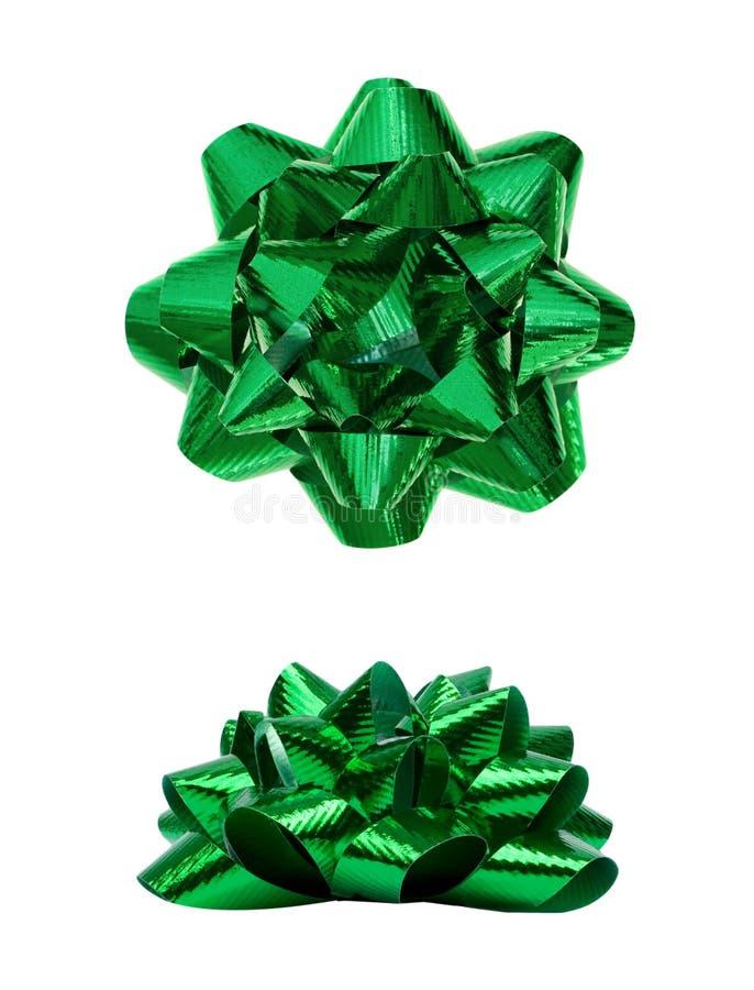 Groene Huidige Vakantieboog stock afbeelding