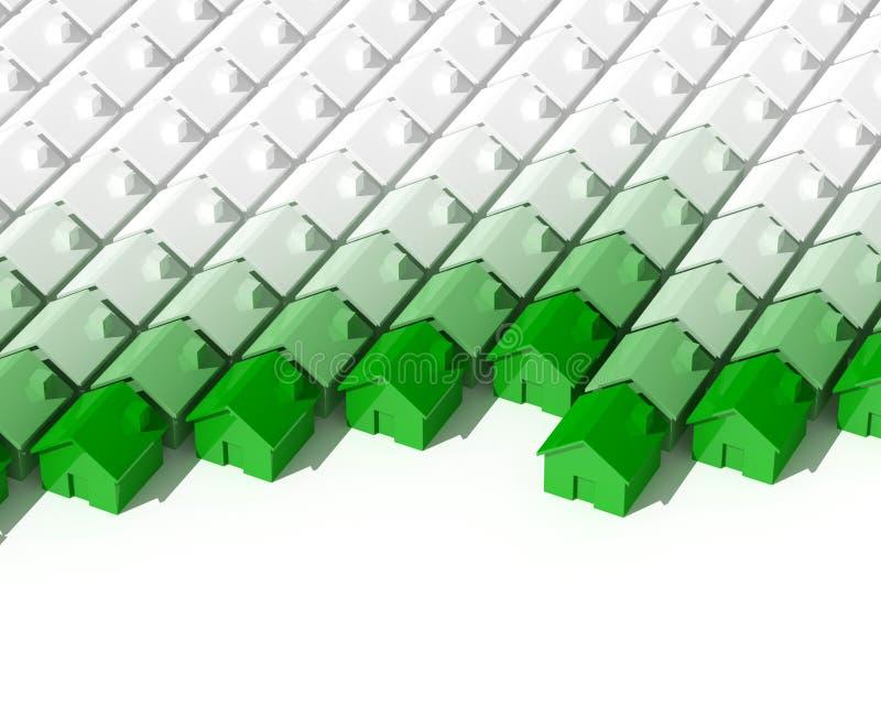 Groene huisachtergrond vector illustratie