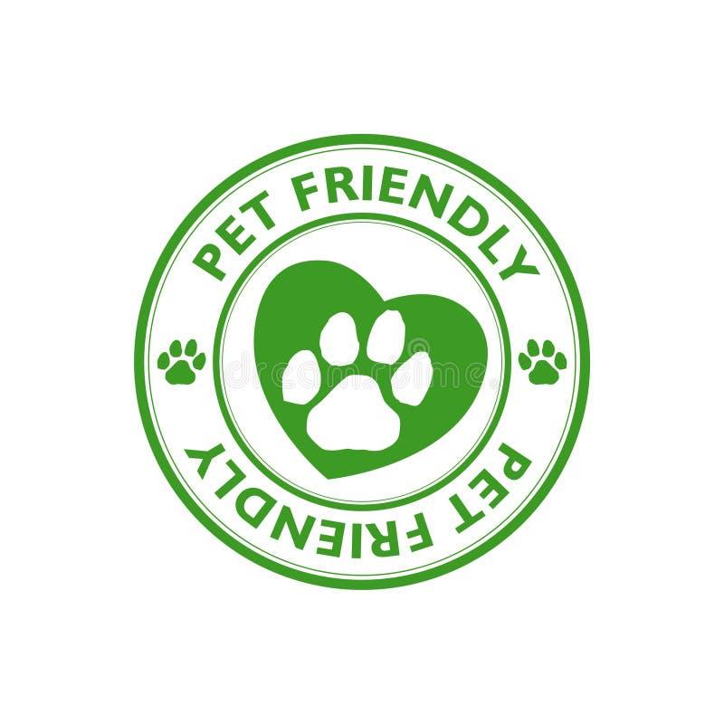 Groene Huisdieren vriendschappelijke zegel, teken, pictogram royalty-vrije illustratie