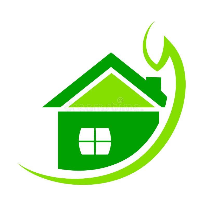 Groene huisillustratie stock illustratie