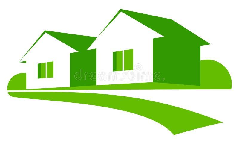 Groene Huizen Stock Afbeelding