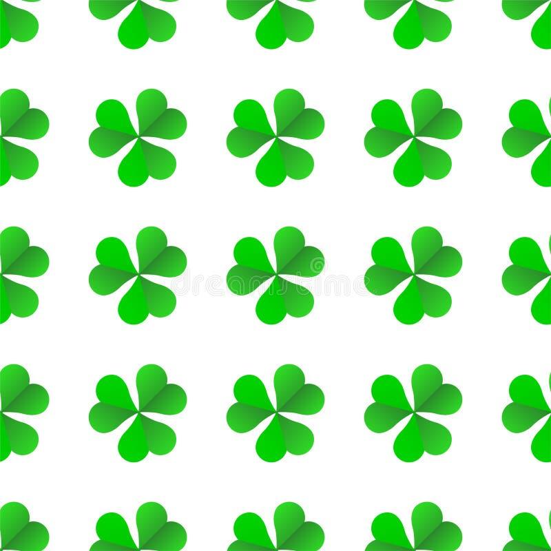 Groene Ierse Klaver voor St Patricks Dag naadloos vectorpatroon royalty-vrije illustratie