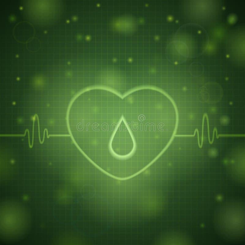 Groene impuls van liefde stock illustratie