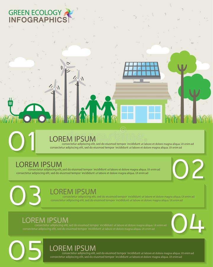 Groene Infographics royalty-vrije illustratie
