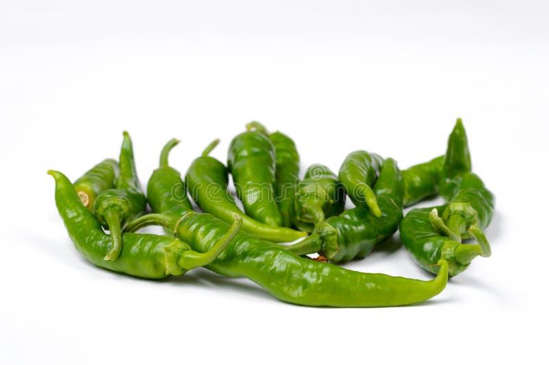 Groene Italiaanse Spaanse peper royalty-vrije stock foto's