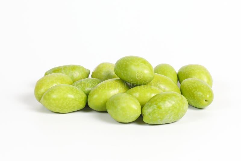 Groene jonge olijf stock fotografie
